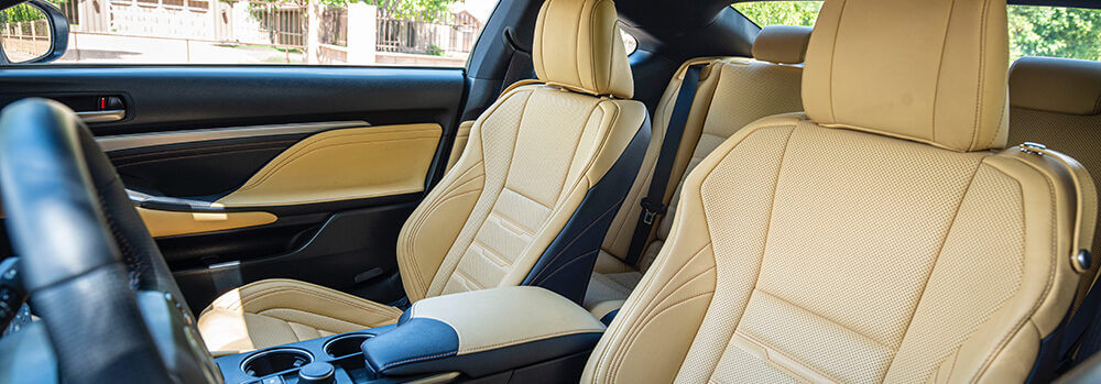 Luxury car interior Pompano Beach